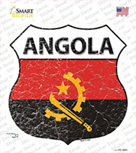 Angola Flag Wholesale Novelty Highway Shield Sticker Decal
