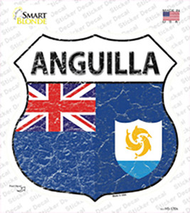 Anguilla Flag Wholesale Novelty Highway Shield Sticker Decal