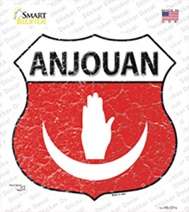 Anjouan Flag Wholesale Novelty Highway Shield Sticker Decal