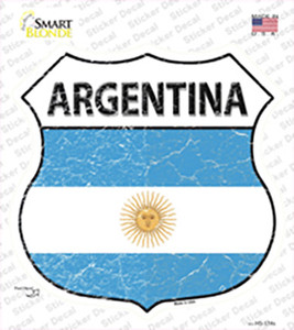 Argentina Flag Wholesale Novelty Highway Shield Sticker Decal