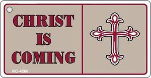 Christ Is Coming Mini License Plate Metal Novelty Key Chain