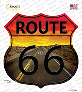 Route 66 Sunset Wholesale Novelty Highway Shield Sticker Decal