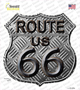 Route 66 Stamped Wholesale Novelty Highway Shield Sticker Decal