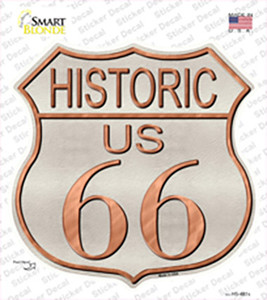 Historic Route 66 Wholesale Novelty Highway Shield Sticker Decal