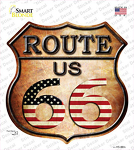 Route 66 American Flag Wholesale Novelty Highway Shield Sticker Decal