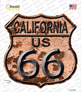 California Route 66 Rusty Wholesale Novelty Highway Shield Sticker Decal