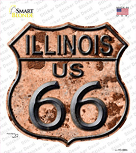 Illinois Route 66 Rusty Wholesale Novelty Highway Shield Sticker Decal