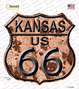 Kansas Route 66 Rusty Wholesale Novelty Highway Shield Sticker Decal