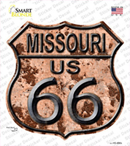 Missouri Route 66 Rusty Wholesale Novelty Highway Shield Sticker Decal