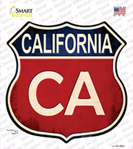 California Wholesale Novelty Highway Shield Sticker Decal