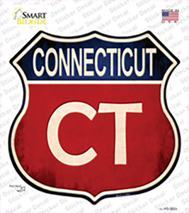 Connecticut Wholesale Novelty Highway Shield Sticker Decal