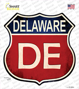 Delaware Wholesale Novelty Highway Shield Sticker Decal