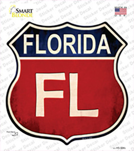 Florida Wholesale Novelty Highway Shield Sticker Decal