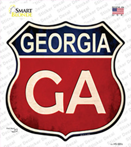 Georgia Wholesale Novelty Highway Shield Sticker Decal