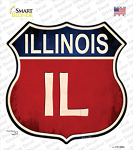 Illinois Wholesale Novelty Highway Shield Sticker Decal