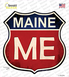 Maine Wholesale Novelty Highway Shield Sticker Decal