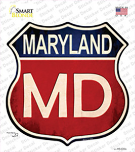 Maryland Wholesale Novelty Highway Shield Sticker Decal