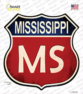 Mississippi Wholesale Novelty Highway Shield Sticker Decal