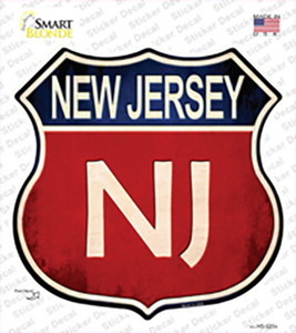 New Jersey Wholesale Novelty Highway Shield Sticker Decal