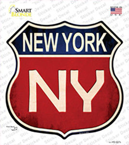 New York Wholesale Novelty Highway Shield Sticker Decal