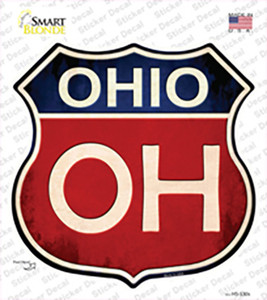 Ohio Wholesale Novelty Highway Shield Sticker Decal