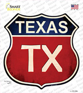 Texas Wholesale Novelty Highway Shield Sticker Decal