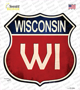 Wisconsin Wholesale Novelty Highway Shield Sticker Decal