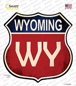 Wyoming Wholesale Novelty Highway Shield Sticker Decal