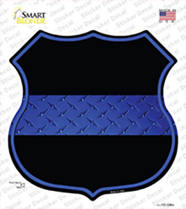 Thin Blue Line Wholesale Novelty Highway Shield Sticker Decal