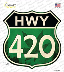 Hwy 420 Wholesale Novelty Highway Shield Sticker Decal