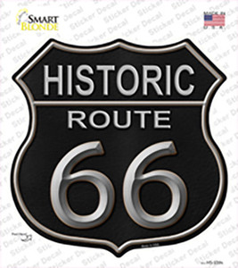 Historic Route 66 Black Leather Wholesale Novelty Highway Shield Sticker Decal