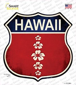Hawaii Hibiscus Wholesale Novelty Highway Shield Sticker Decal