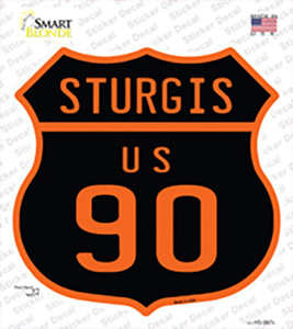 Sturgis US 90 Wholesale Novelty Highway Shield Sticker Decal