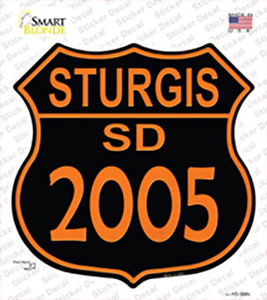 Sturgis SD 2005 Wholesale Novelty Highway Shield Sticker Decal