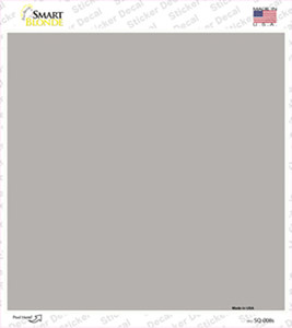 Gray Solid Wholesale Novelty Square Sticker Decal