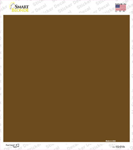 Brown Solid Wholesale Novelty Square Sticker Decal