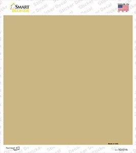Gold Solid Wholesale Novelty Square Sticker Decal