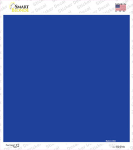 Blue Solid Wholesale Novelty Square Sticker Decal