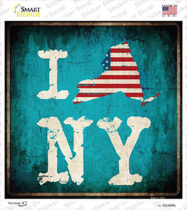 I Love New York Wholesale Novelty Square Sticker Decal