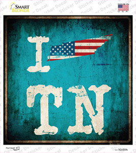 I Love Tennessee Wholesale Novelty Square Sticker Decal