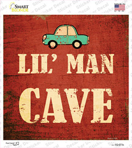 Lil Man Cave Wholesale Novelty Square Sticker Decal