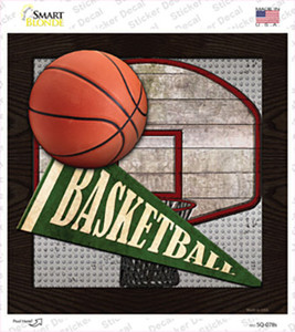 Basketball Wholesale Novelty Square Sticker Decal