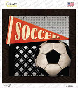 Soccer Wholesale Novelty Square Sticker Decal