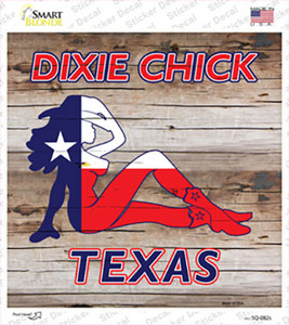 Dixie Chicks Texas Wholesale Novelty Square Sticker Decal