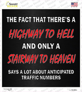 Traffic Numbers Wholesale Novelty Square Sticker Decal