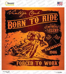Born To Ride Wholesale Novelty Square Sticker Decal