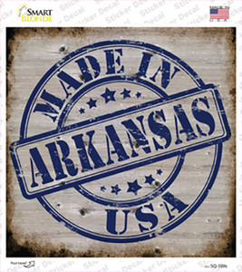 Arkansas Stamp On Wood Wholesale Novelty Square Sticker Decal