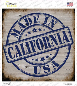California Stamp On Wood Wholesale Novelty Square Sticker Decal