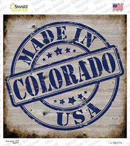 Colorado Stamp On Wood Wholesale Novelty Square Sticker Decal