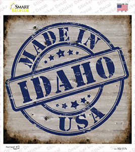 Idaho Stamp On Wood Wholesale Novelty Square Sticker Decal